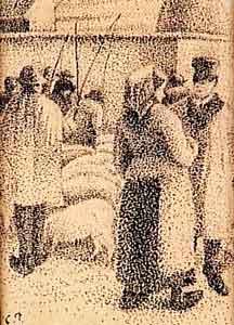 Camille Pissarro - Le marché aux cochons, foire de la Saint-Martin à Pontoise