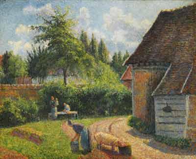 Camille Pissarro - Maison de paysans
