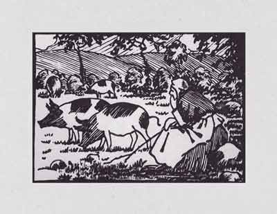 Paul-Émile Pissarro - Femme garde les porcs