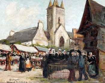 Edouard Richard - Jour de marché à Quimperlé