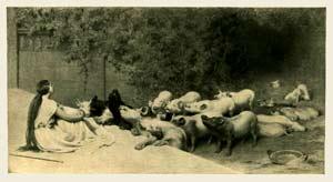 Briton Rivière - Circe and her swine