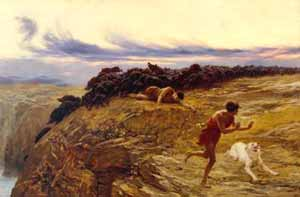 Briton Rivière - The Miracle of the Gaderene Swine