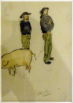 Victor Joseph Roux-Champion - Gardien de porc