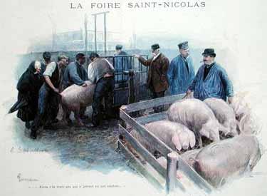 Louis Remy Sabattier - The Saint-Nicolas Fair in Evreux