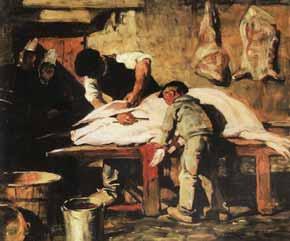 Lucien Simon - La mort du cochon