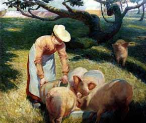 Arthur Watson Sparks - Le repas des cochons