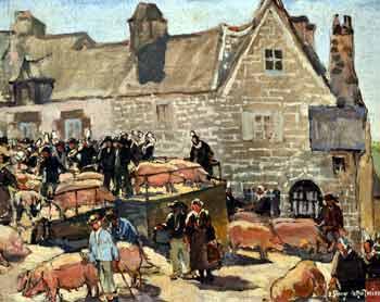 Joseph Stany-Gauthier - Marché aux cochon en Bretagne