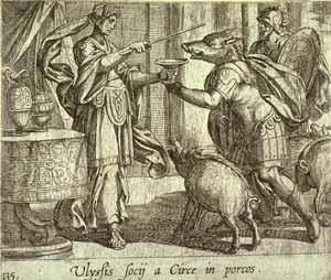 Antonio Tempesta - Ulyssis socij a Circe in porcos