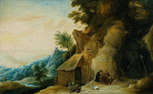 David Teniers the Younger - Saints Anthony and Paul in a Landscape