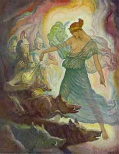 N. C. Wyeth - Circe and the Swine