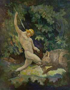 N. C. Wyeth - The Boar Hunt