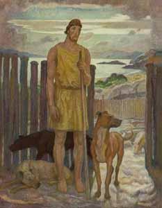N. C. Wyeth - Eumaeus, the Swineherd