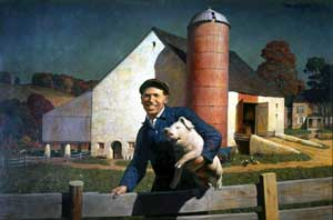 N. C. Wyeth - Portrait of a Farmer