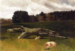 James Wyeth - The Runaway Pig (#1)