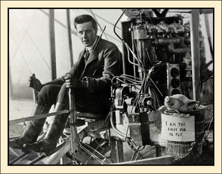 first pig to fly - Brabazon and pig