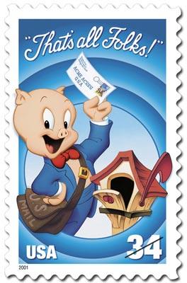 USPS Porky Pig stamp